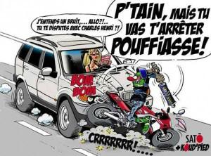 Incivisme routier et humiliation motarde