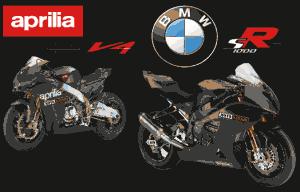 Aprilia attaque Bmw moto