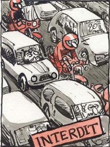 Motard contre chauffard