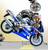 Stunter débutant en moto