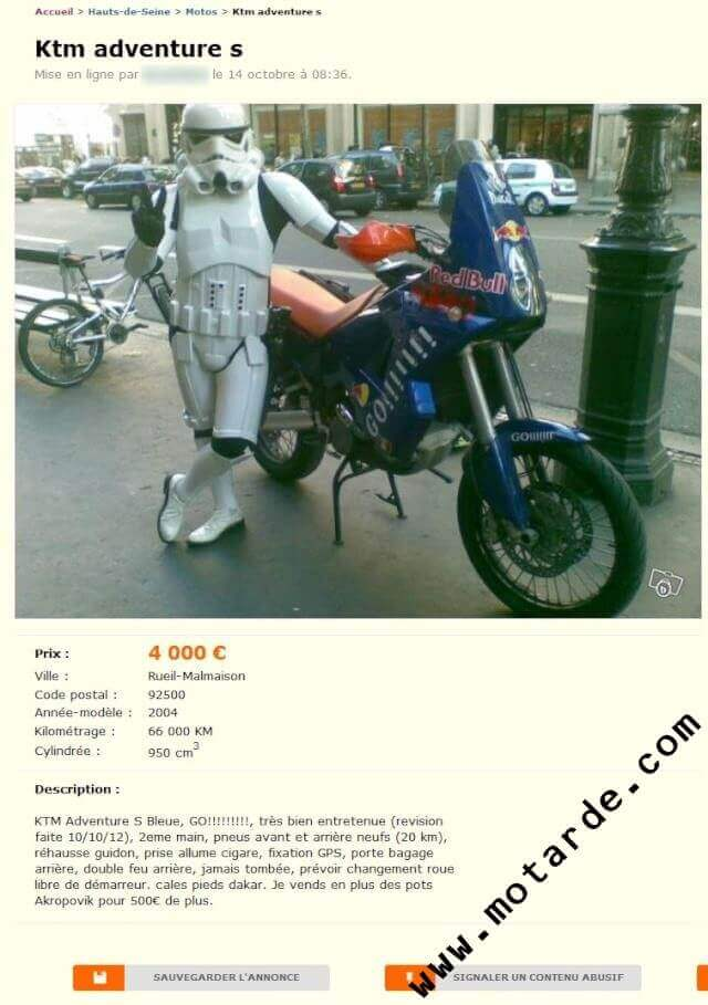 Moto Unique Star Wars