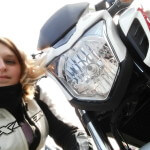 Portrait d'une motarde : Flavie