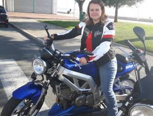 Portrait d'une motarde : Cynthia