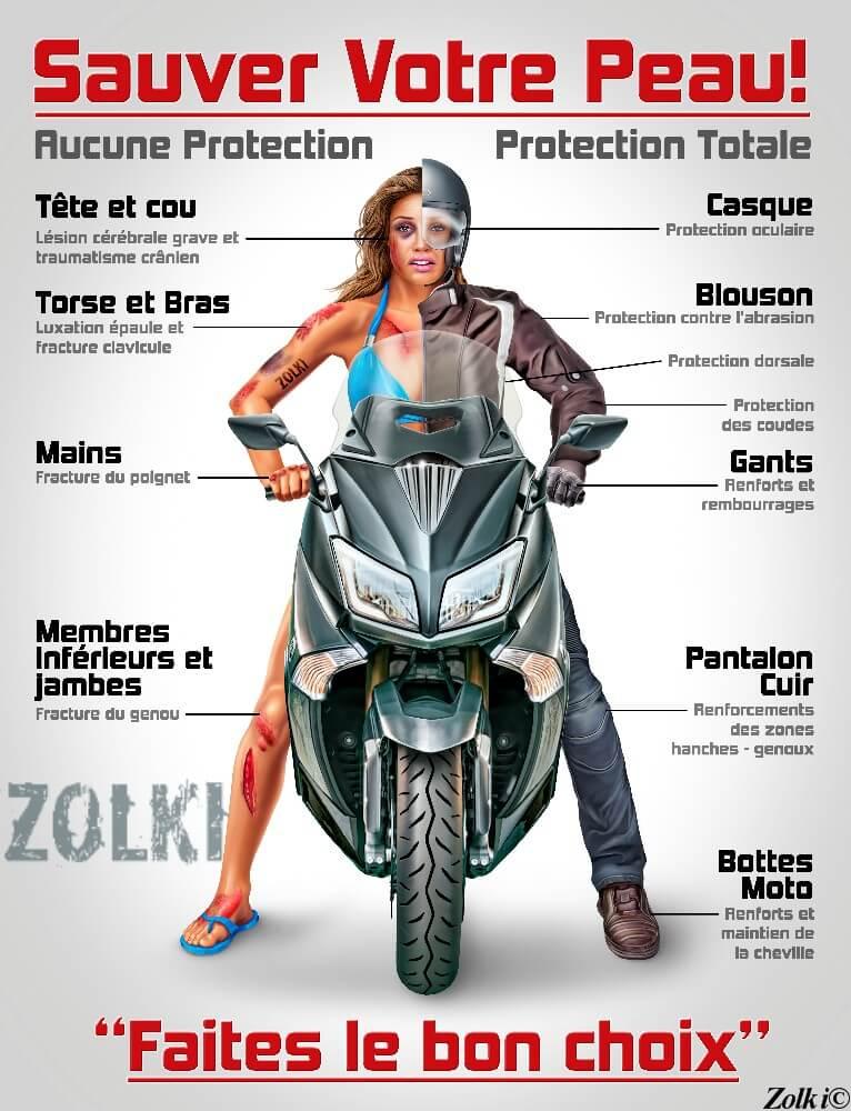 protection motarde sécurité moto