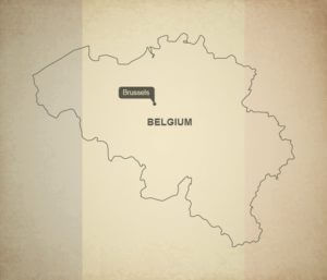 A moto en Belgique